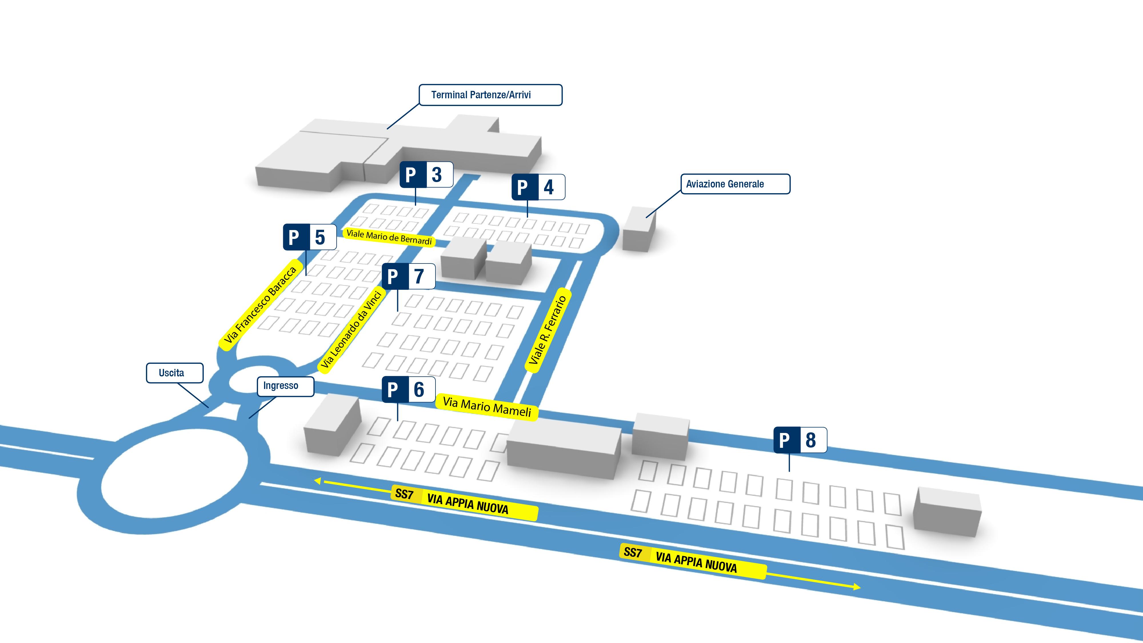 Cartina Roma Ciampino.Parcheggio P3 Ciampino Aeroporti Di Roma
