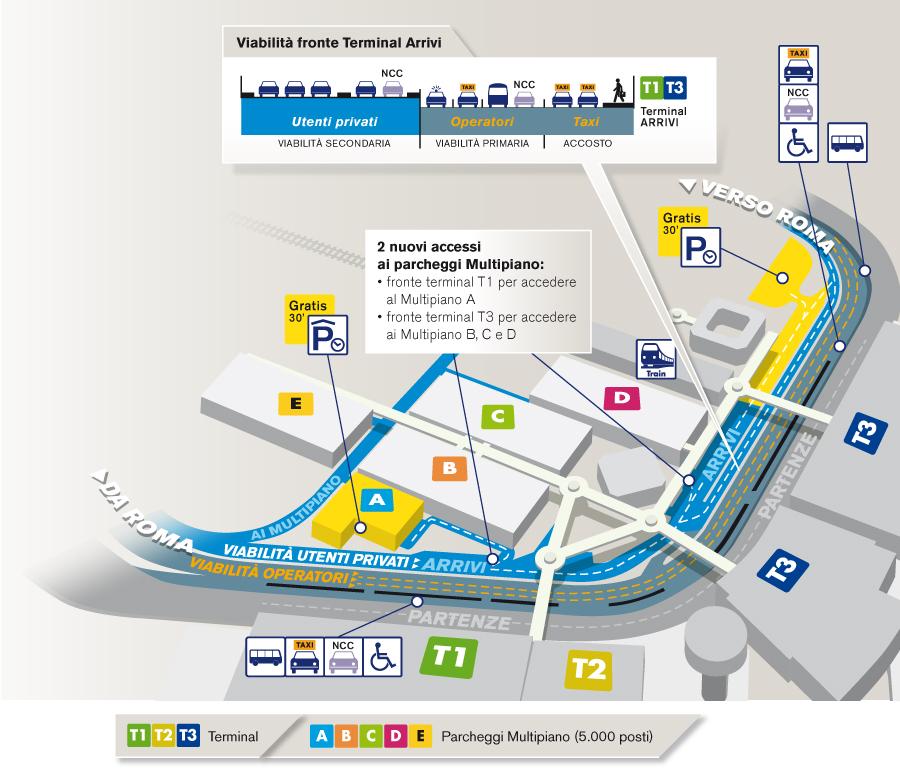 Viabilit 224 Aeroporto Di Fiumicino Adr It Aeroporti Di